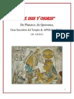 De ISIS y OSIRIS - Plutarco