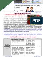 FICHA DE EVALUACIÓN DIAGNÓSTICA DE EPT - VI CICLO