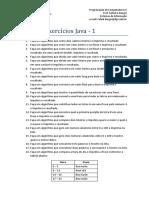 Lista de Exercícios Java - 1