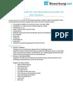 Bewerbung.net Motivationsschreiben-studium Checkliste