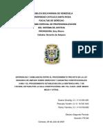CUADRO COMPARATIVO-  DERECHO DE AMPARO -  FS12A - EQUIPO CONFORMADO POR YAMIRKA YANEZ, YANETH PLAZUELA Y GRACILIG GUERRA