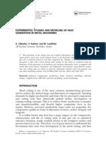 Mechanical Engineering Journal - experimental studies and modeling of heat generation in metal machining