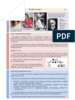Huntington's Disease Information Sheet