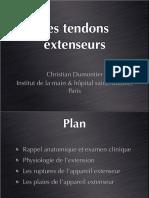 3-9 Tendons Extenseurs Cours DIU
