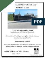 175 N. Greenwood Avenue, Pasadena | for Lease