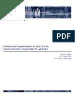 Estimation de l'impact financier du projet d'achat d'avions de combat interarmées F-35 Lightning II