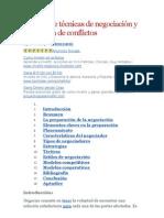 Análisis de técnicas de negociación y resolución de conflictos