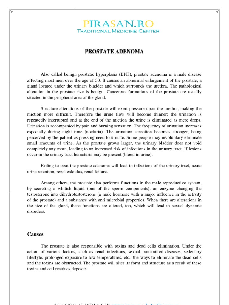 How to treat prostate adenoma