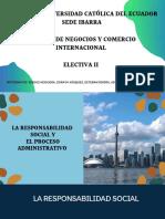 La responsabilidad social y el proceso administrativo