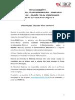 Caderno Prova - 501 Especialista Técnico Regional II