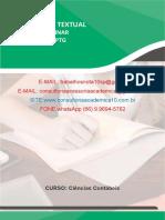 Produção Textual Interdisciplinar em Grupo (PTG) 7° 8º semestre. Ciências Contábeis. Caso empresa Metal América S.A.