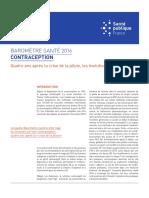 Baromètre santé 2016 contraception