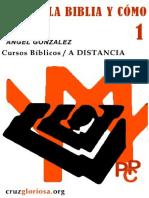 Cursos Biblicos a Distancia 01 Angel Gonzalez Que Es La Biblia y Como Leerla
