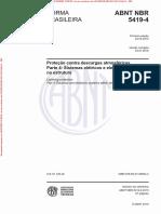 NBR 5419-4 de 052015 - Proteção Contra Descargas Atmosféricas - Parte 4 Sistemas Elétricos e Eletrônicos Internos Na Estrutura