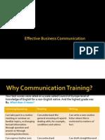 Training Presentation on Business Communication