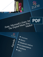Presentation on Microsoft's ZUNE