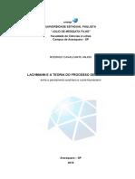 LACHMANN E a TEORIA DO PROCESSO de MERCADO - Entre o Pensamento Austríaco e o Pós-keynesiano - Rodrigo Cavalcante Anjos - Monografia
