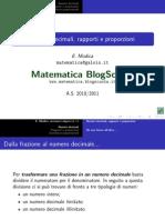 Numeri decimali, rapporti e proporzioni