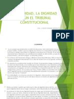 8.- Dignidad- Segun El Tribunal Constitucional. Casos (1)