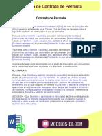 Modelo de Contrato de Permuta