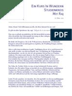 Ein Kurs in Wundern Studiengruppe mit Raj 26 03 11