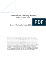 ENG1D Review - Self-Directed Learning Module