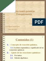 Unidad 14 Reacciones Química