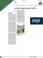 Uniurb in cammino, cinque tappe per Gubbio - Il Corriere Adriatico del 17 luglio 2021