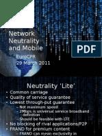 Regulatory Framework for Over-the-top (OTT) services / Internet