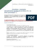 9. Le Bilan Periodique Exemples Disciplinaires