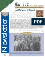 IBEW 332 Newsletter 08.2003