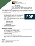 Program Worker - Steeves (Activities)
