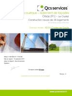 820911700034 - Orsay  (91)- Le Crystal - Rapport Acoustique faáades