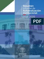Resumen Informe de Autoevaluación Institucional 2016-2020