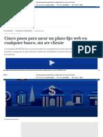 Cinco Pasos Para Sacar Un Plazo Fijo Web en Cualquier Banco, Sin Ser Cliente _ El Cronista