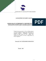 DEMOCRACIA SEMIDIRETA, REFERENDO, PLEBISCITO, INICIATIVA POPULAR E LEGISLAÇÃO PARTICIPATIVA