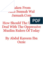 How Should the Ummah Deal With the Oppressive Muslim Rulers of Today