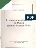 A componente etnológica do Museu Tavares Proença Júnior, por António Salvado