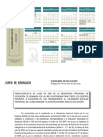 calendario escolar Granada 08-09
