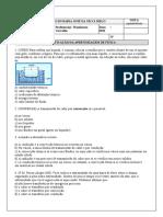 2ª PROVA DE FÍSICA - 7º ANO ENS. FUNDAMENTAL - WANDERSON CARVALHO - MARIA JOSÉ 2021