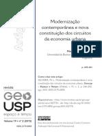 Maria Laura Silveira - Modernização e Circuitos da economia Urbana