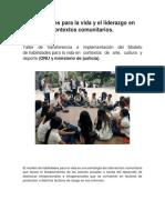 Habilidades para la vida y el liderazgo en contextos comunitarios