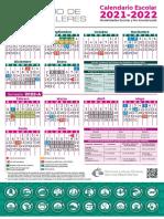 Calendario Escolar Colegio de Bachilleres 2021 2022