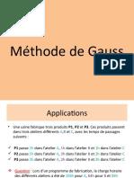Méthode de Gauss- PPT