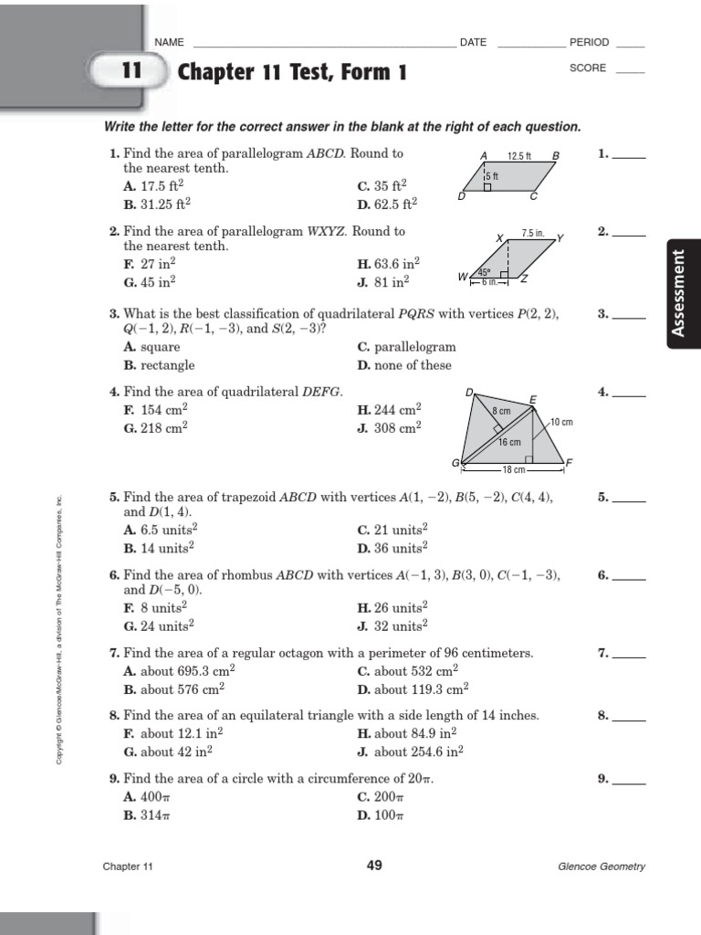 Glencoe algebra 2 workbook answers chapter 9