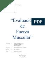 Informe evaluacion fuerza