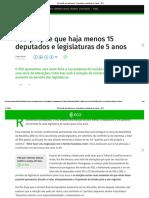 PSD propõe que haja menos 15 deputados e legislaturas de 5 anos – ECO