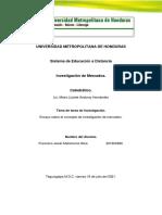 Francisco J. Matamoros-Ensayo sobre el concepto de investigación de mercados  -AIN304 Investigacion de Mercados-III Periodo 2021