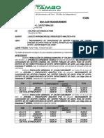 INFORME N°006  - Solicitud De Aprobación Del Analítico N°03