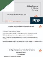 PRESENTACION CODIGO NACIONAL DE TRANSITO TERRESTRE